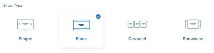 Block type slider