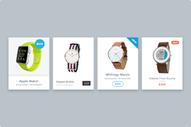 Carousel WooCommerce product slider variations
