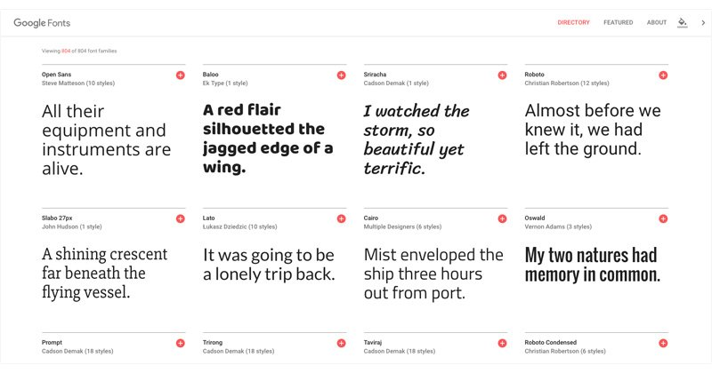 Some Google Fonts which you can use easily in Smart Slider 3