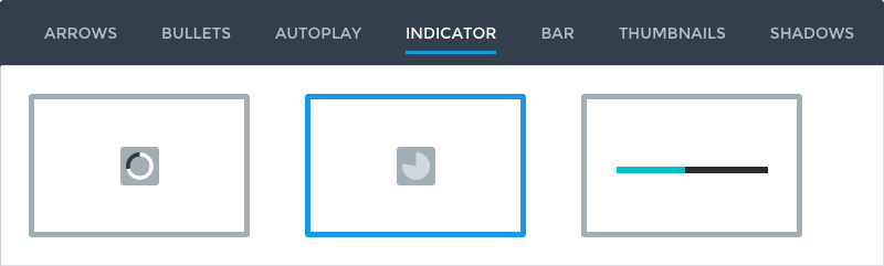 Autoplay indicator for the slider