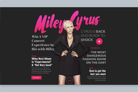 Magazine – Text and heading layer