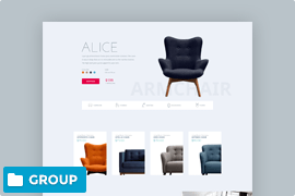 WooCommerce landing page with product carousel