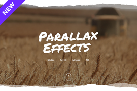 Parallax slider – Display background images and layers with parallax effect