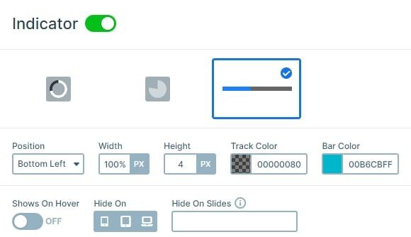 Autoplay indicator