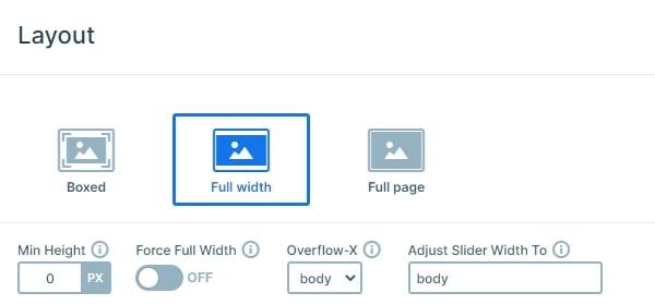 Full width layout