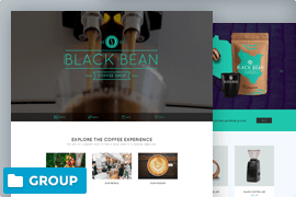 Coffee website landing page