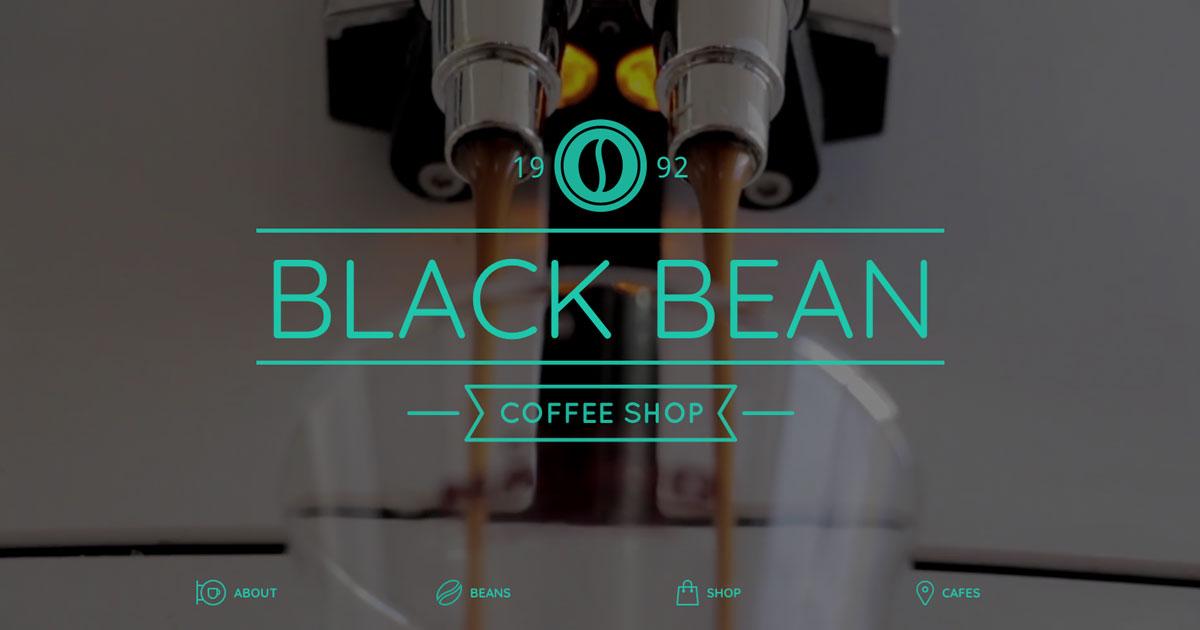 Coffee website landing page