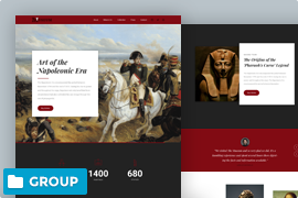 Museum website landing page