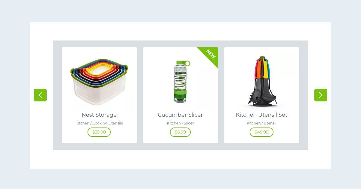 Boxed Product Carousel