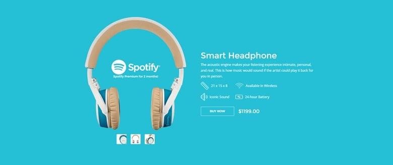 Headphone product hero image