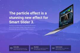 Full Page Particle Slider