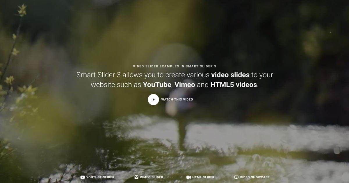 Fullpage Video Block