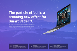 Particle slider and particle effect for WordPress – Smart Slider 3
