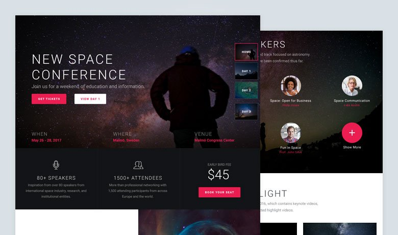 Space Conference - New Slider Group Template