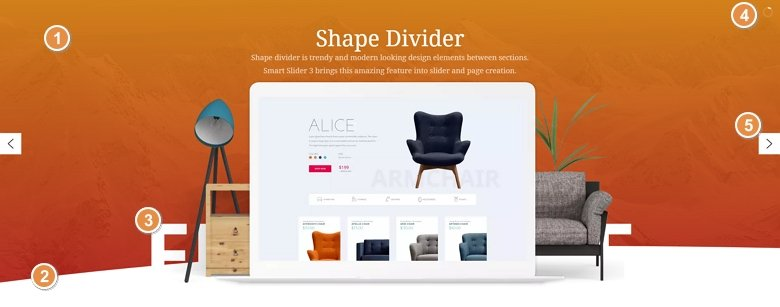 Best features of the shape divider example