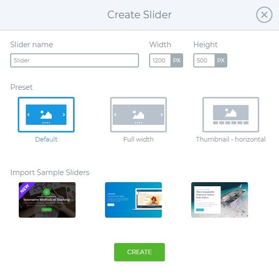 Create Slider