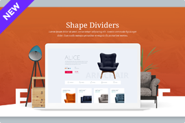 Shape Divider – Add beautiful section for WordPress with animated shapes