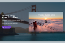 Video Slider – Full width video