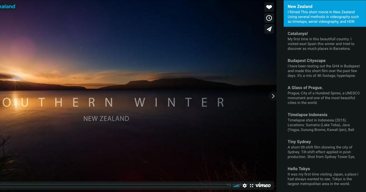 Vimeo slider
