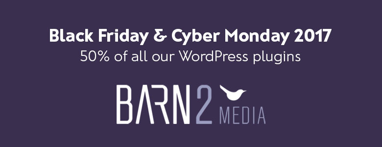Barn2 Media Plugins Black Friday Deal 2017