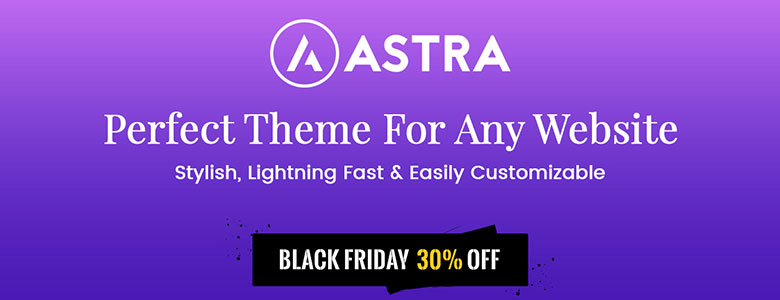 Astra Pro Addons Black Friday Deal 2017