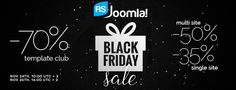 RSJoomla Black Friday Deal 2017