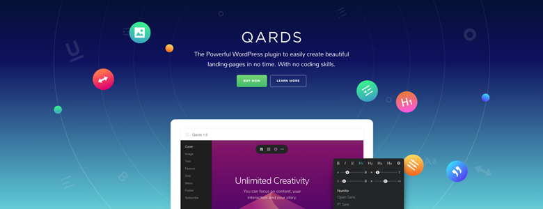 Qards - Page Builder Plugin Black Friday Deal 2017