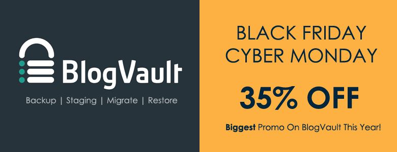 BlogVault Black Friday Deal 2017