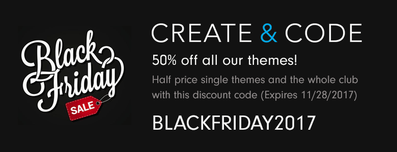 Create and Code Black Friday Deal 2017