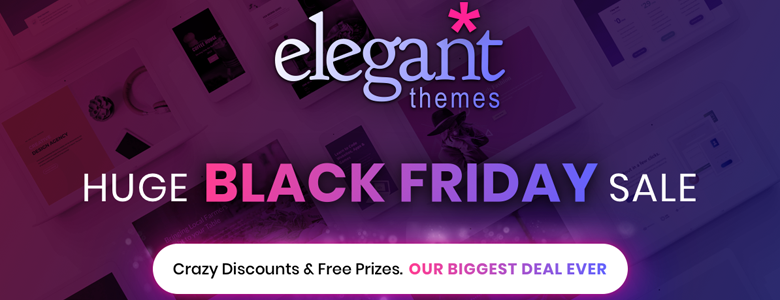 ElegantThemes Black Friday Deal 2017