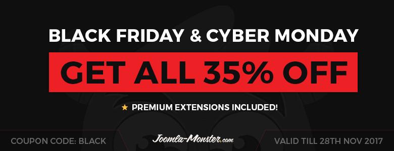 Joomla Monster Black Friday Deal 2017