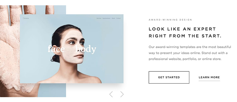 Template slider - Squarespace