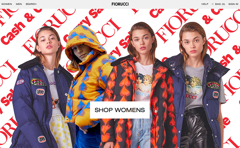 Whoever designed the Fiorucci website has brought scrolling marquees back, baby. Scroll to the bottom of the homepage to see the marquees in action.