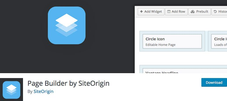 WordPress page builder - Page builder by Siteorigin