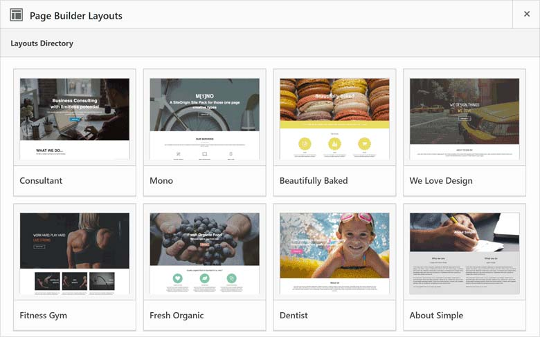 Page builder by SiteOrigin Layouts
