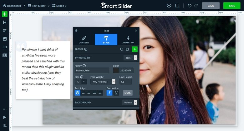 Smart Slider - Add Text