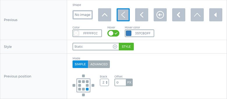 Smart Slider - Arrow Settings