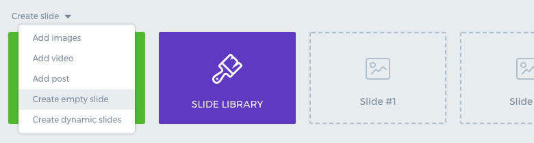 Smart Slider - Create Empty Slide