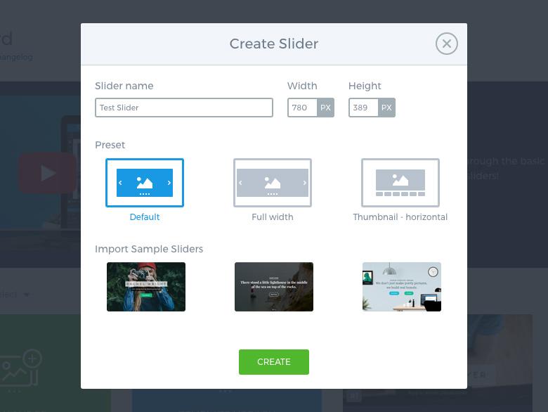 Smart Slider 3 - Create slider