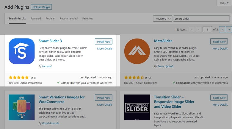 Install Smart Slider 3 Free