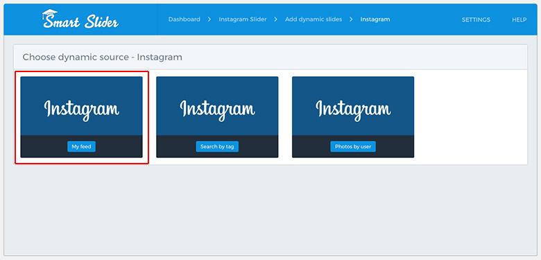 Smart Slider 3 instagram sources