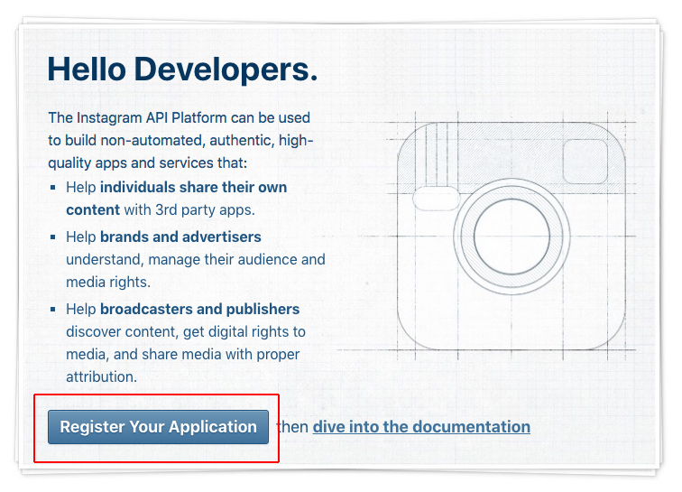 Instagram register application