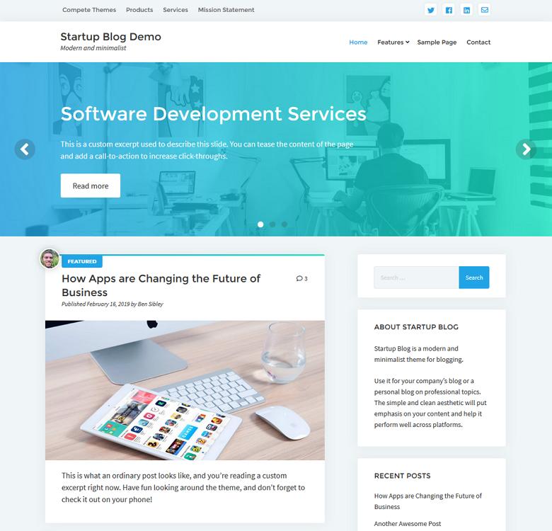 Startup Blog Theme
