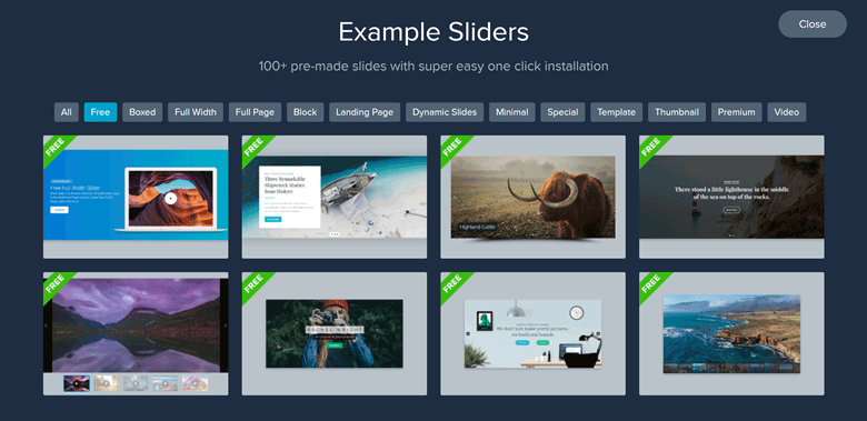 WordPress Gallery Slider SS3 Templates