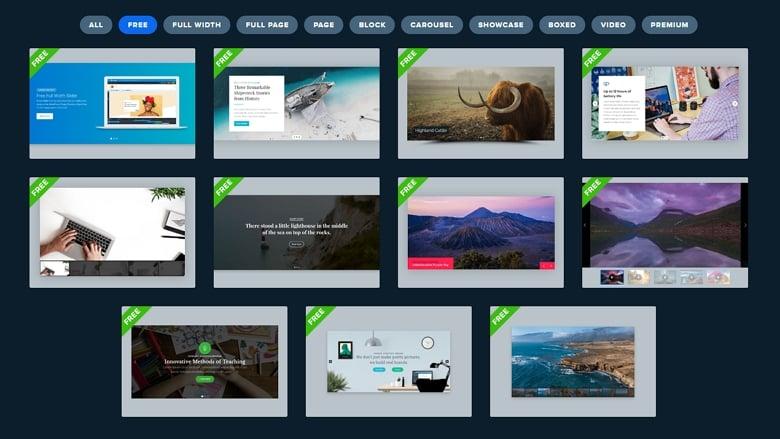 Free Smart Slider templates