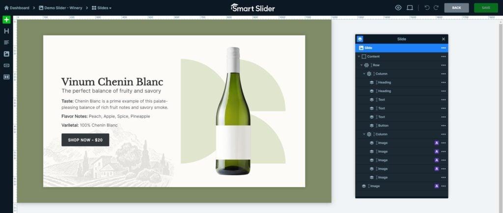Smart Slider interface