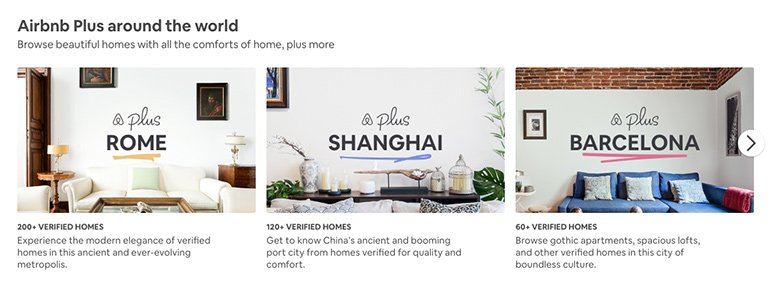 Airbnb slider