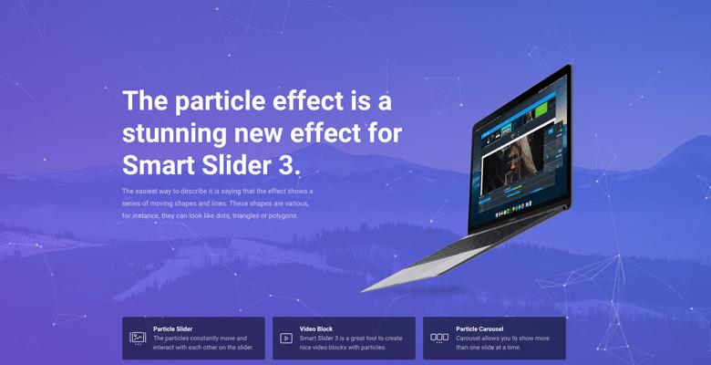 particle slider