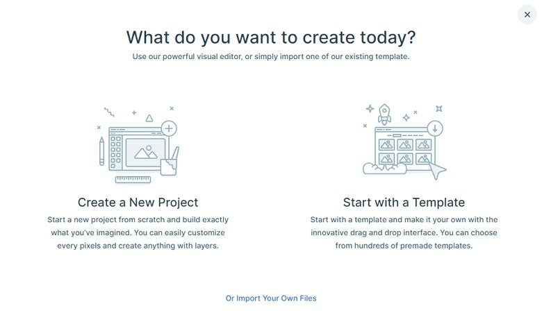 Create a project with Smart Slider 3