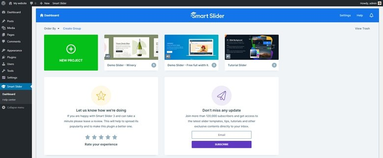 Smart Slider 3 Dashboard